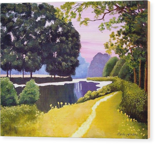 Landscape  Wood Print by Carola Ann-Margret Forsberg