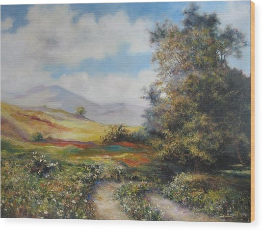Landscape In Dilijan Wood Print