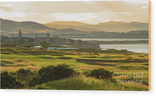 Landscape Of St Andrews Home Of Golf Wood Print