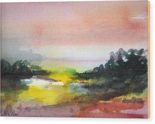 Landscape Vi Wood Print by Neva Rossi