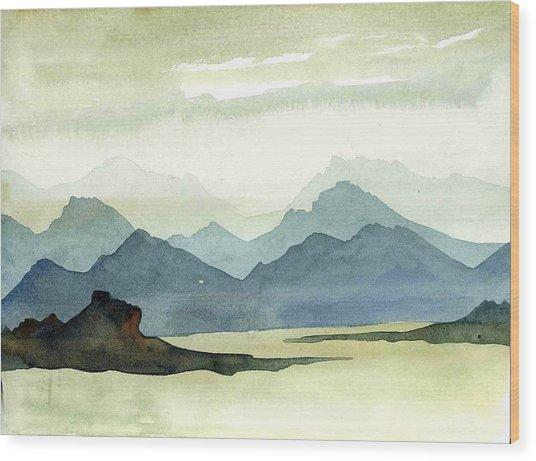 Landscape09-1 Wood Print