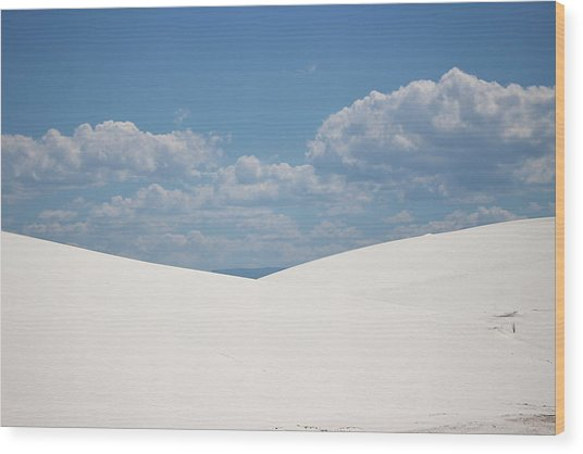 Landscapes Of White Sands 11 Wood Print