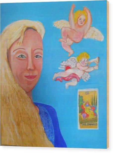 L'ange Wood Print