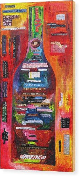 Language Of Love Wood Print by Patti Schermerhorn