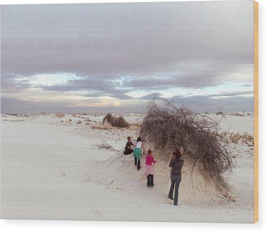 Exploring The Dunes Wood Print
