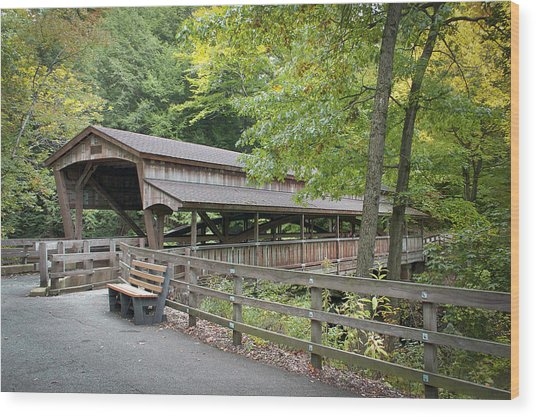 Lanterman's Mill Covered Bridge Wood Print