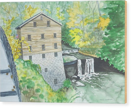 Lanterman's Mill - Mill Creek Park Wood Print