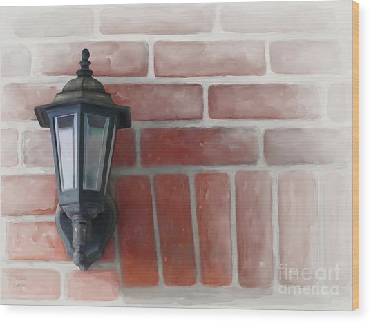 Wood Print featuring the painting Lantern by Ivana Westin