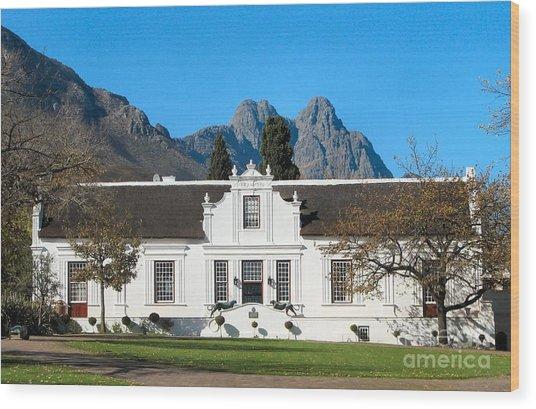 Lanzerac Stellenbosch Wood Print by Heather Nel