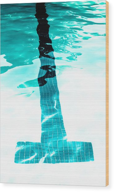Lap Lane - Swim Wood Print