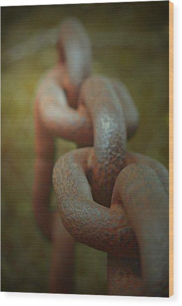 Large Chain Wood Print