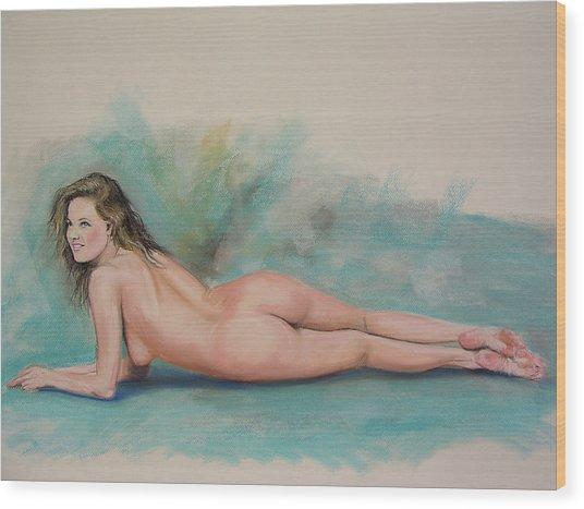 Large Pastel Nude Wood Print