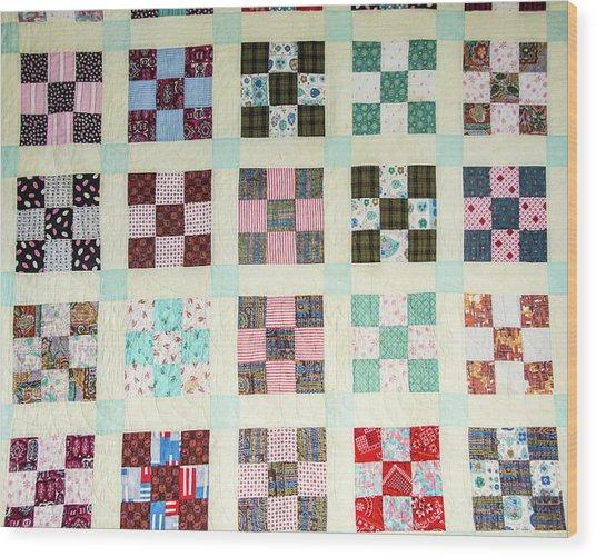 Large Quilt Wood Print