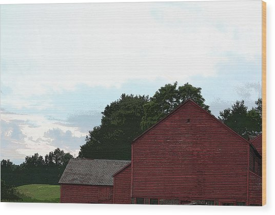Large Red Barn Wood Print