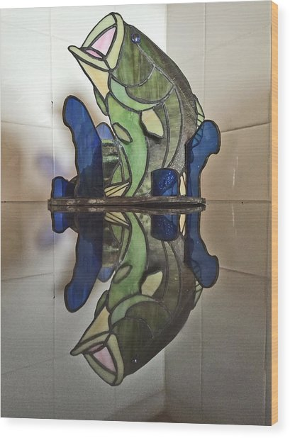 Largemouth Bass Wood Print