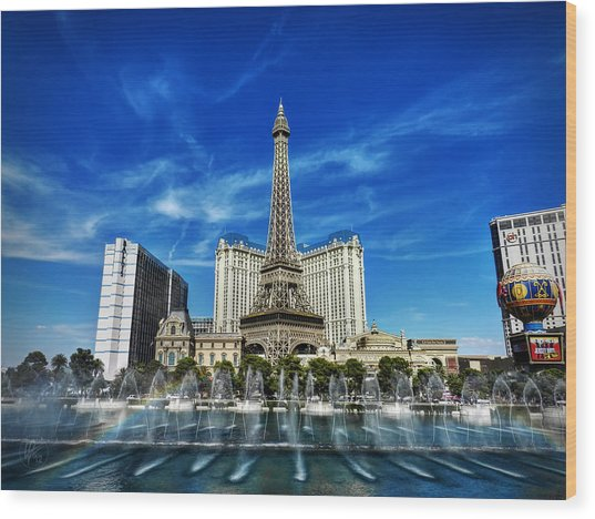 Wood Print featuring the photograph Las Vegas 016 by Lance Vaughn