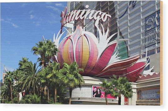 Las Vegas Flamingo Hotel Lotus Blossom Wood Print