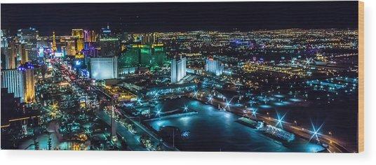 Las Vegas Looking North Wood Print