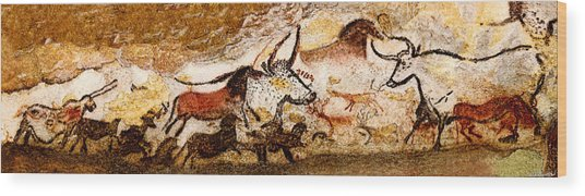 Lascaux Hall Of The Bulls Wood Print