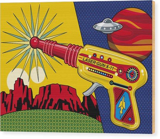 Laser Gun Wood Print