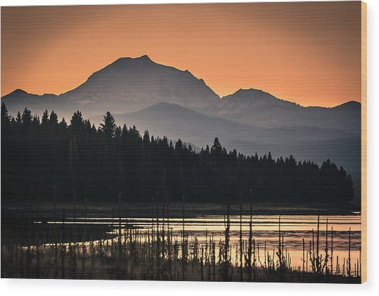Lassen In Autumn Glory Wood Print