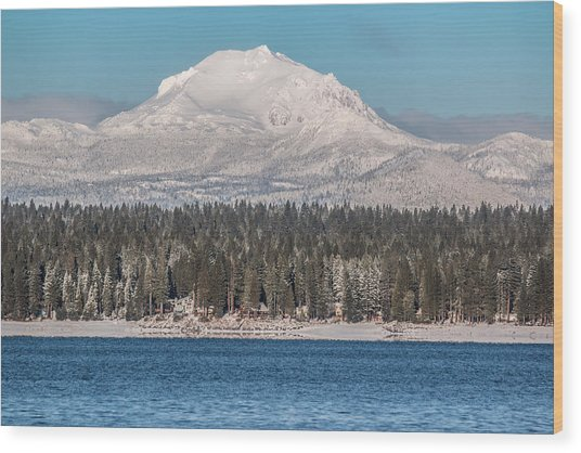Lassen On Christmas Morning Wood Print