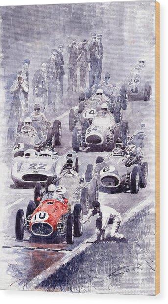Last Control Maserati 250 F France Gp 1954 Wood Print