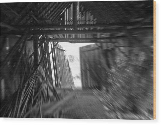 Last Exit Wood Print