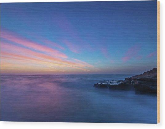 Last Light In April, Sunset Clifs Wood Print