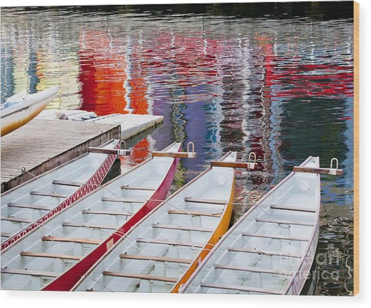 Last Of The Dragon Boats Wood Print