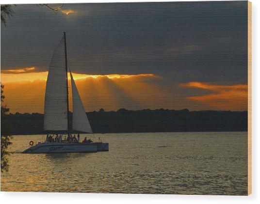 Last Sail Wood Print
