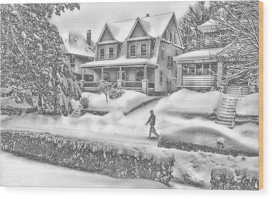 Last Snow For Montclair 2015 Wood Print
