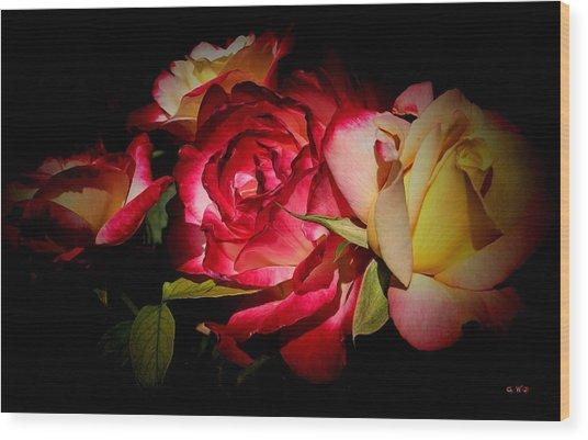Last Summer Roses Wood Print