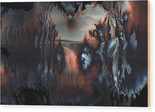 Wood Print featuring the digital art Last Sunrise by Vadim Epstein