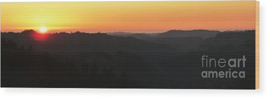 Last Sunset Before The Autumnal Equinox  Wood Print by JoAnn SkyWatcher