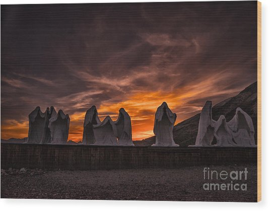 Last Supper At Sunset Wood Print