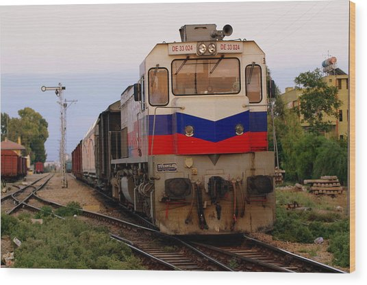 Last Train Home Wood Print by Don Prioleau