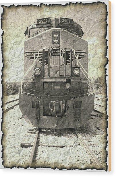 Last Train Wood Print