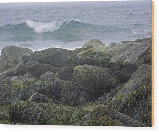 Last Wave Wood Print
