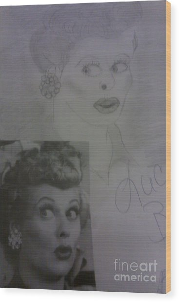 Late Actress Lucille Ball Wood Print
