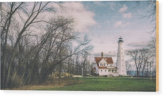 Late Afternoon At The Lighthouse Wood Print