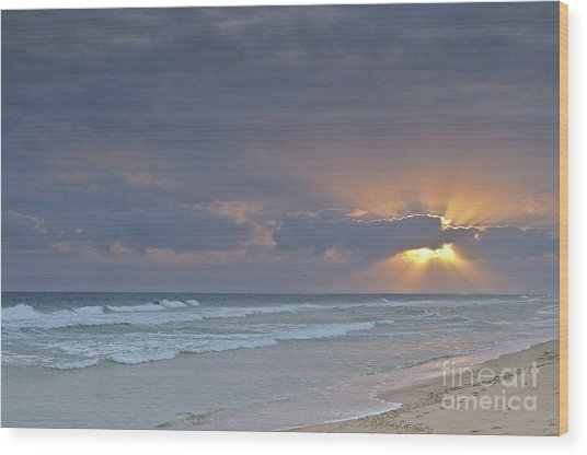 Late Afternoon In Ilha Deserta. Algarve Wood Print