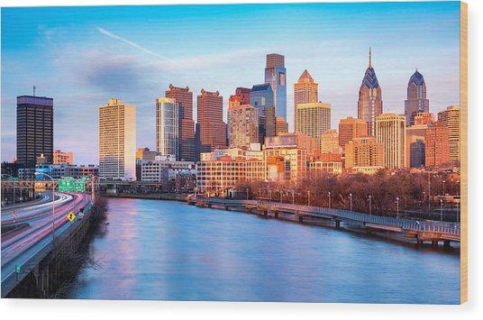 Late Afternoon In Philadelphia Wood Print