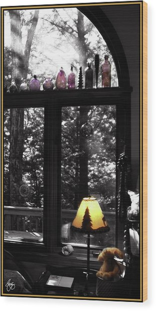 Late Afternoon Light Across Arch Window Wood Print