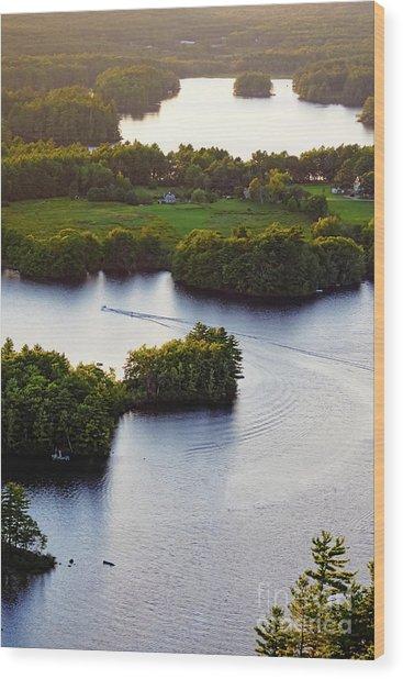 Late Afternoon On Lake Megunticook, Camden, Maine -43988 Wood Print