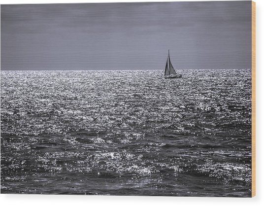 Late Afternoon Sailing Wood Print
