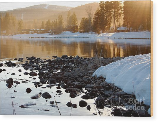 Late Aternoon  Lake Tahoe Wood Print by Heather S Huston