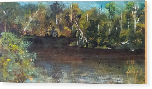 late in the Day on Blue Creek Wood Print