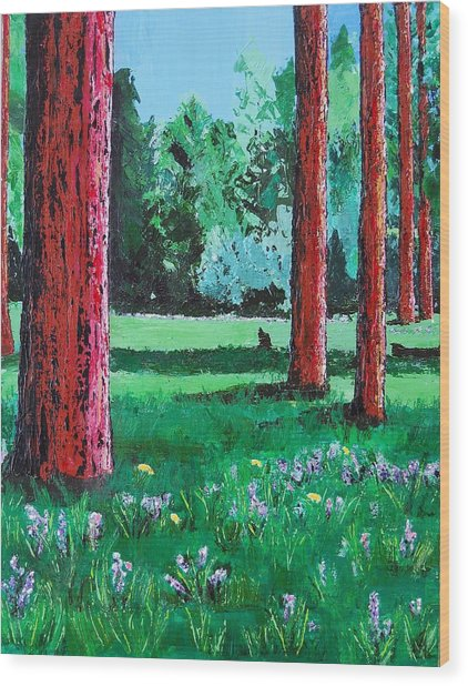 Late Summer Get Away Wood Print by Susan M Woods