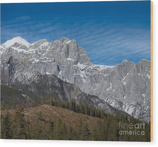 Late Winter In The Rockies Wood Print by Royce Howland